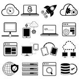Programming icons Stock Image