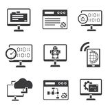 Programming icons set Stock Photography
