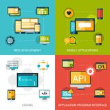 Programming Icons Set Royalty Free Stock Images