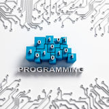 Programming illustration with circuits Royalty Free Stock Photography