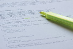 Programming language Java on paper Royalty Free Stock Images