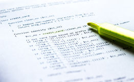 Programming language PHP on paper Royalty Free Stock Photo