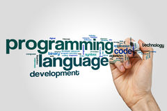 Programming language word cloud. Concept Stock Images