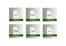 Programming languages icons set Stock Images