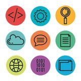Programming languages set icons. Vector illustration design Stock Image