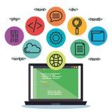 Programming languages set icons. Vector illustration design Royalty Free Stock Photo