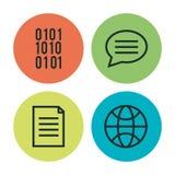 Programming languages set icons. Vector illustration design Stock Images