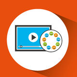 Programming languages video player icon Stock Images