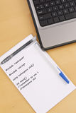 Programming Notes Royalty Free Stock Photo
