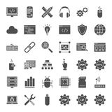 Programming Solid Web Icons Royalty Free Stock Images