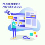 PROGRAMMING AND WEB DESIGN vector illustration