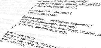 Programming web source code. Piece of script source code program Stock Image