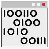 Programming on windows Stock Image