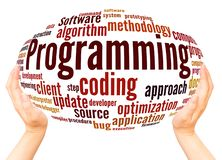 Programming word cloud concept. On white background royalty free stock photo