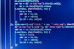 Programować kodu abstrakta technologię Programować kodu abstrakta ekran deweloper oprogramowania Zdjęcia Stock