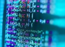 Programowania cyfrowania źródła kodu ekran zdjęcie stock