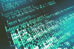 Programowania cyfrowania źródła kodu ekran Zdjęcie Royalty Free