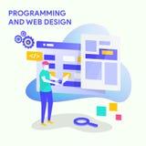 Programowania i sieci projekt ilustracja wektor