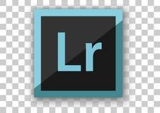 Programvara för design för Adobe lightroomsymbol Arkivfoton