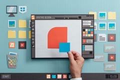 Programvara för grafisk design royaltyfri bild