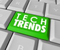 Programvara för knapp för tangentbord för dator för Techtrendord bästa populär Royaltyfria Foton