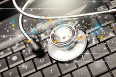 Programvara för medicinsk examen Arkivbild