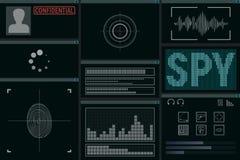 Programvara för spionen vektor illustrationer