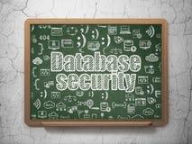 Programvarubegrepp: Databassäkerhet på skolförvaltningbakgrund royaltyfri illustrationer