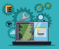Programvarudesign Arkivfoton