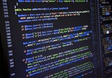 Programvarukällkod Öppet källprojekt för Freeware Framkallande programmera och kodifiera teknologier Programvarukällkod CSS Jav arkivbild