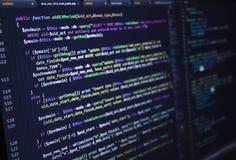 Programvarukällkod Öppet källprojekt för Freeware Framkallande programmera och kodifiera teknologier Programvarukällkod CSS Jav royaltyfria bilder