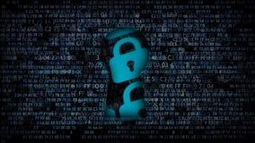 Programvaruskydd Det är inte möjligt att hacka Information under skydd vektor illustrationer