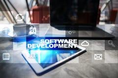 Programvaruutveckling Applikationer APPS för affär programmering royaltyfri fotografi