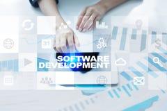 Programvaruutveckling Applikationer för affär programmering royaltyfri foto