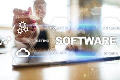 Programvaruutveckling Begrepp för teknologi för system för dataDigital program Arkivbilder