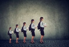 Progredisca nel concetto della crescita di istruzione professionale e di carriera Immagine Stock Libera da Diritti