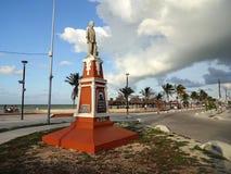 Progreso海滩的创建者 库存图片