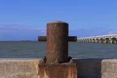 Progreso :对港口的神色 库存图片