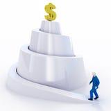 Progreso de la renta del hombre de negocios Imagen de archivo libre de regalías