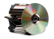Progreso de la tecnología de los media de la PC Foto de archivo
