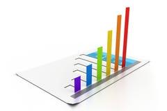 Progreso del crecimiento del gráfico de negocio Fotografía de archivo libre de regalías