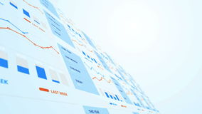 Progreso del crecimiento del gráfico de negocio stock de ilustración