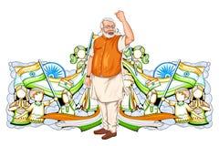 Progreso y desarrollo de la demostración del collage que representan el levantamiento de la India ilustración del vector