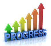 Progress. Colorful graph 3D concept Royalty Free Stock Image