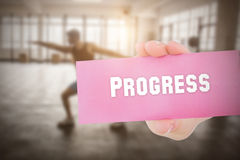 Progress against people background Stock Image