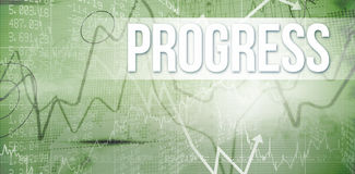 Progress against stocks and shares on black background Royalty Free Stock Photography