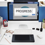 Progress Analytics Strategy Solution Business Concept Royalty Free Stock Images