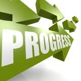 Progress arrow green Royalty Free Stock Photography