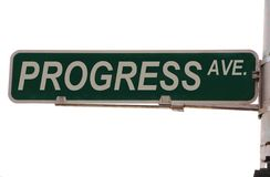Progress Avenue Street Sign Stock Photography