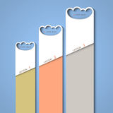 Progress background of stylized clouds Stock Images